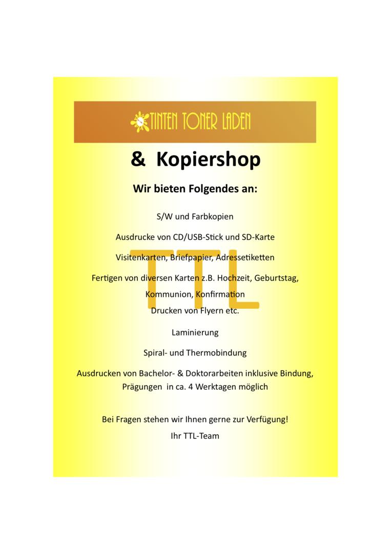 Tinten Toner Laden Copy Und Print Shop Wiesbaden Print
